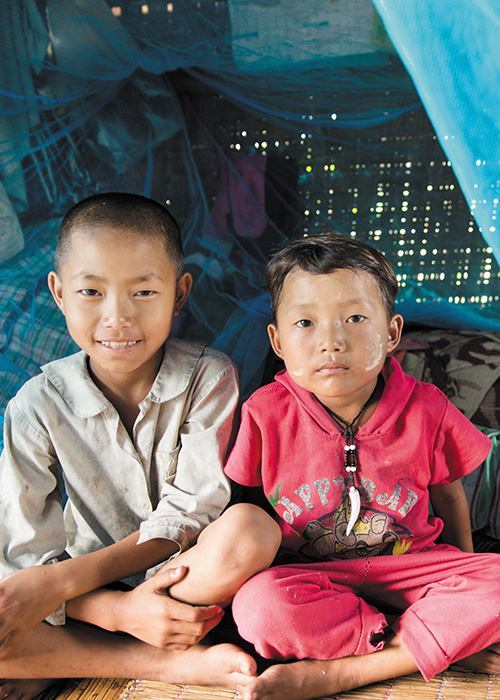 Mosquito Nets for Three Families